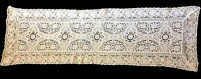 Gorgeous Antique Belgian Brussels Lace Runner Normandy Lace Style Design