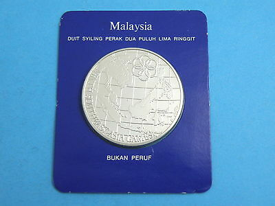 Malaysia - 1977 Silver Uncirculated 25 Ringgit Coin - Southeast Asian Games