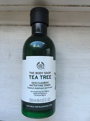NEW The Body Shop TEA TREE SKIN CLEARING MATTIFYING TONER 250ml