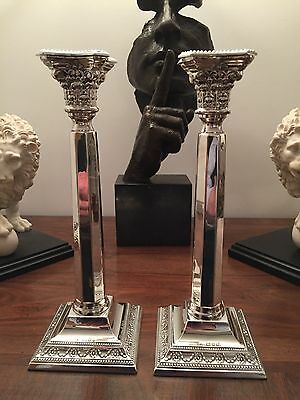 Pair of George V Sterling Silver Candle Sticks - 1936