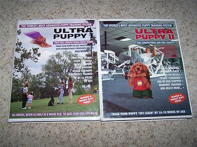 Ultra Puppy I & Ultra Puppy II VHS Tape Set Dog Puppy Obedience Training
