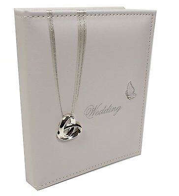 "WEDDING RINGS PICTURE PHOTO ALBUM 5"" x 7"" WEDDING DAY GIFT FAUX LEATHER"