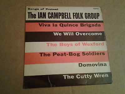"""The Ian Campbell Folk Group – Songs Of Protest. Vinyl 7"""" (1962)"""