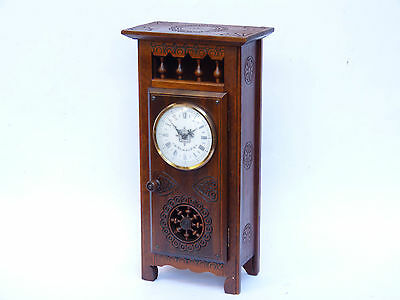 french antique breton brittany wood carved furniture doll clock miniature wardro