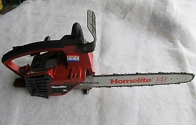 """Vintage Collectible Homelite Xl Chainsaw With 14"""" Bar"""