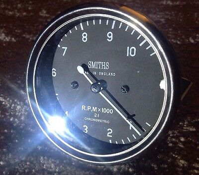 Smiths Replica Chronometric  Mechanical Revcounter 0-10000 RPM 2:1 Ratio