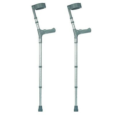 NRS Healthcare Double Adjustable Crutches with Comfy Handle Long/Tall - Pair