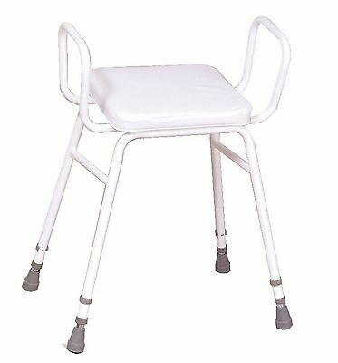 NRS Healthcare Malvern Adjustable Height Perching Stool with Armrests
