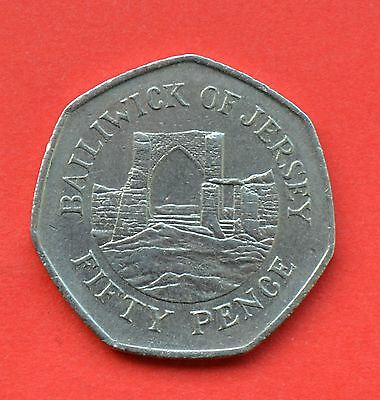 1997 Bailiwick of Jersey 50p Grosnez Castle