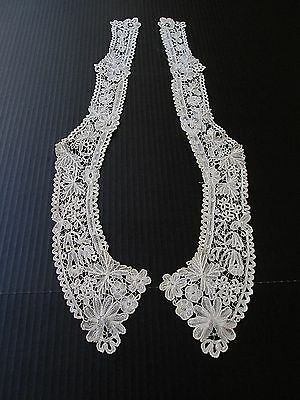 Exquisite Antique  Duchesse De Bruges Bobbin Lace Collar..(2 Piece )