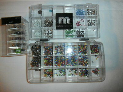 Making Memories - Snaps - Brads - Eyelets - Mixed Lot in Storage Boxes - USED
