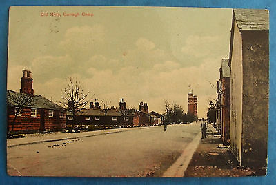Postcard POSTED 1911 OLD HUTS CURRAGH CAMP Co.KILDARE IRELAND