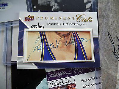 George Mikan /107 auto 2009 UPPER DECK PROMINENT CUTS signed PSA/DNA AUTOGRAPH