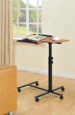 Portable Book Stand Adjustable Rolling Music School Lectern Podium Recipe Holder