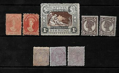 AUSTRALIAN STATES - Small Mint Collection - M/M & MNG - 7 Items - 2 Scans