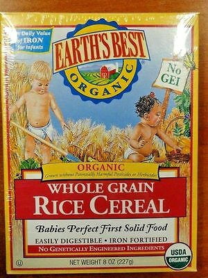Earth's Best Organic Whole Grain Rice Cereal 8oz   10/27/17 New
