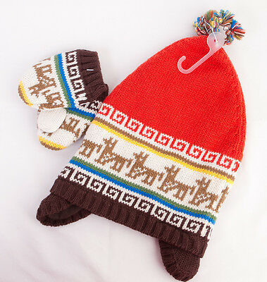 Baby Gap Knit Hat and Mittens Set for Boy or Girl 0-6 months - NEW