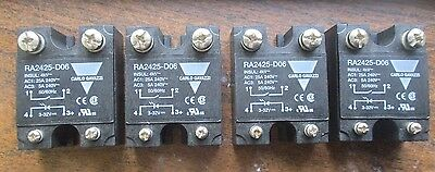 Carlo Gavazzi Lot Of 4 Solid State Contol Relay Ra2425-D06
