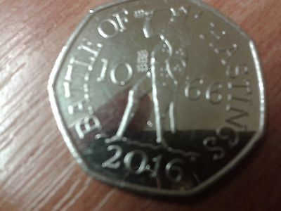 2016 Battle of Hastings 950th Anniversary 50p Coin