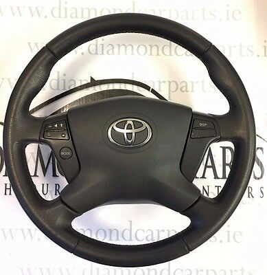 2007 Toyota Avensis Multifunction Leather Steering Wheel With Airbag Trw 1555 De