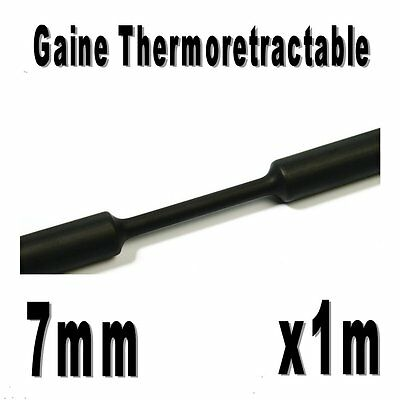 Gaine Thermo Rétractable 2:1 - Diam. 7 mm - Noir - 1m