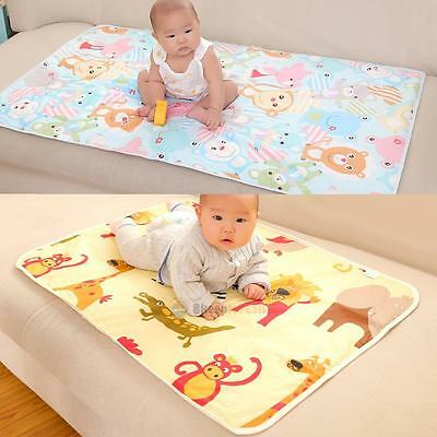 Baby Infant Diaper Nappy Urine Mat Kid Waterproof Bedding Changing Cover Pad UK