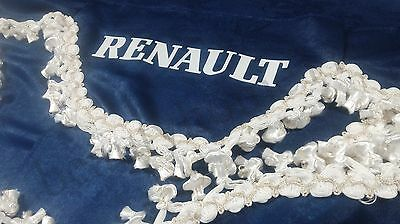 Set Of 3 Blue Curtains With White Tassels  And Logo For  RENAULT PREMIUM