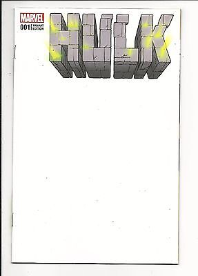 HULK # 1 (Marvel Now! BLANK COVER VARIANT, FEB 2017), NM NEW