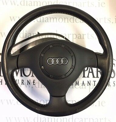 1999 Audi A3 Leather Steering Wheel With Airbag 8L0419091C