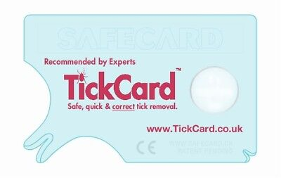 TickCard Credit Card Size Tick Removal Tool Easy Safe New - not tweezers twister