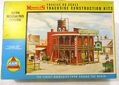 Vintage A.H.M. HO Scale Rooming House for Railroading Kit # 5834:398