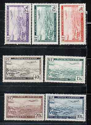 1946 French colony stamps, Algeria, full set MH, SC C1-6