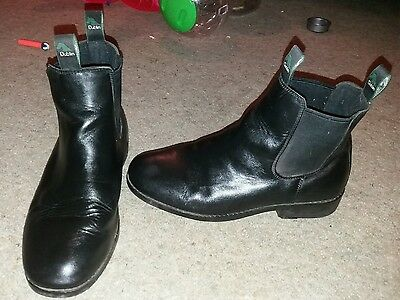 Real leather womens dublin short black riding boots 7
