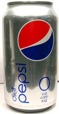 FULL NEW STYLE 12 Ounce Can Diet Pepsi USA (Standard) 2009