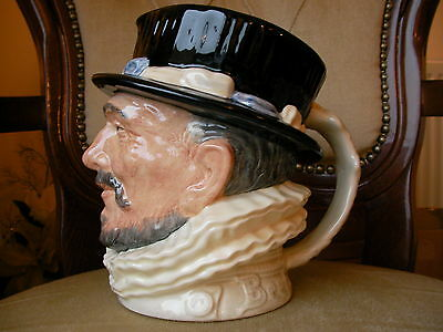Royal Doulton Large Character Toby Jug - White Beefeater - RARE Colourway MINT