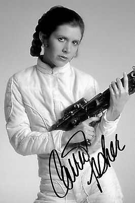 """Carrie Fisher PP signed autographed photograph 6"""" x 4"""" actress author Star Wars"""