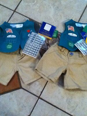 New BUILD-A-BEAR GIRL SCOUT JUNIOR  UNIFORM OUTFIT Troop Scouts Two Available