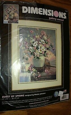 Dimensions Burst of Spring Gallery Crewel Kit by Maxine Johnston #1536 2004