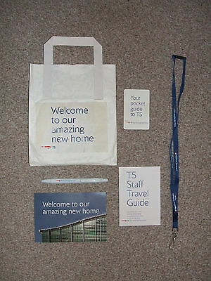 BRITISH AIRWAYS. Staff Welcome Pack For Terminal 5. (Includes BA Lanyard).