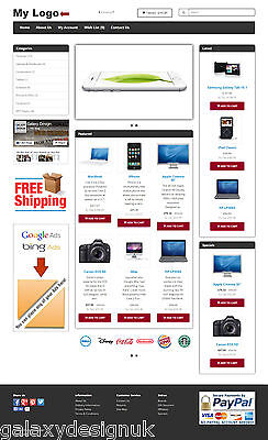 Deluxe Ecommerce Website, Shopping Cart, Unlimited Design, Free Domain & Hosting