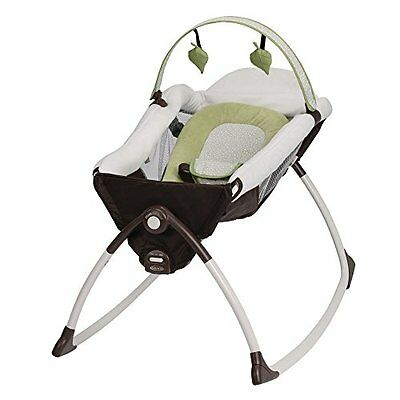 Graco Little Lounger Rocking Seat Plus Vibrating Lounger, Go Green