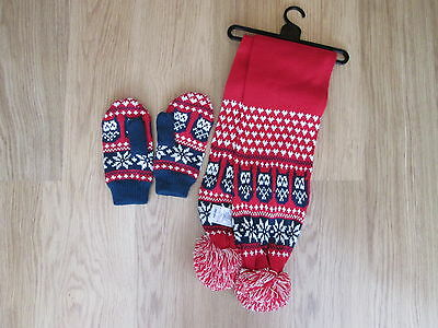 SCARF AND MITTEN SET by GEORGE AT ASDA