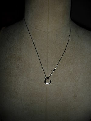 Silver Hallmarked Heart Pendant and Chain