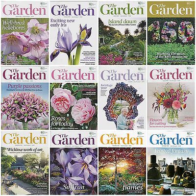 12 Issues RHS Royal Horticultural Society The Garden Magazine Complete Year 2016