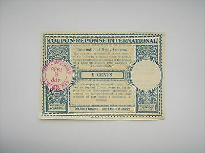 USA Coupon Reponse International 1938 New York Grand Central 9cent like banknote