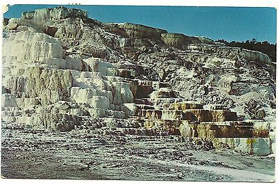 Minerva Terrace Yellowstone National Park Vintage Postcard Posted 1972