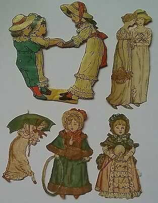 Lovely Selection of KATE GREENAWAY Victorian Scrap & Cuttings.