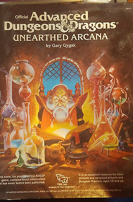 AD&D Advanced Dungeons and Dragons Unearthed Arcana Player's Handbook TSR 2017