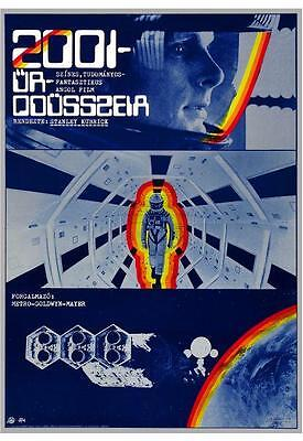 2001 A Space Odyssey *AMAZING POSTER* Stanley Kubrick Sci Fi Classic - HUNGARIAN