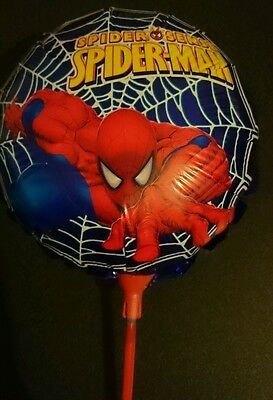 10 x Spiderman Foil Balloons With Sticks Birthday Party decorations superheroes7